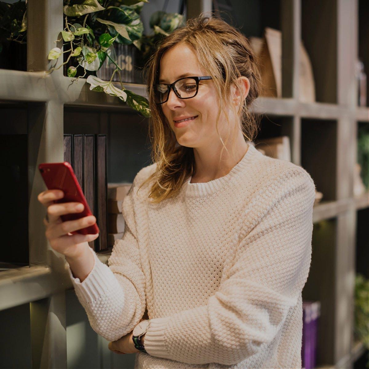 Progressive briller - lese på mobilen